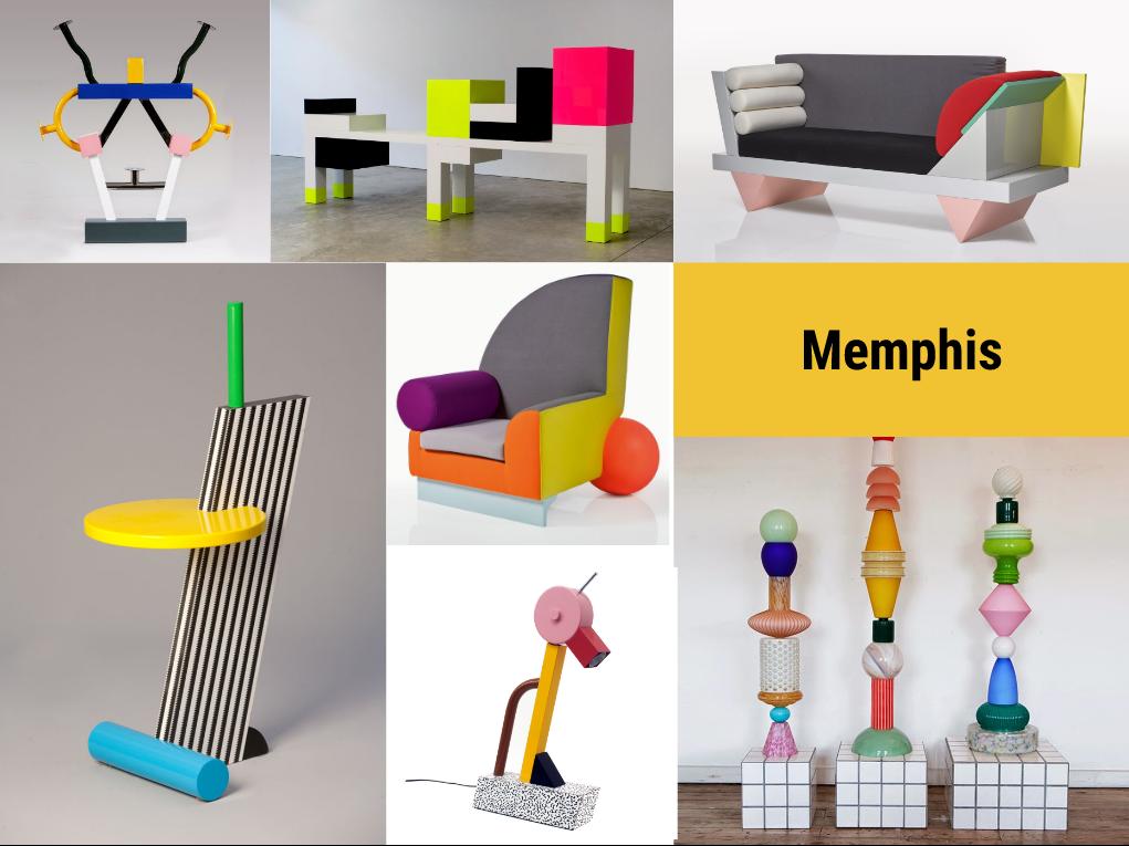 Memphis, diseño, moodboard